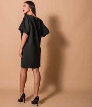 Κοντό Φόρεμα με Παγιέτες  - Κυπαρισσί